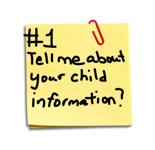 tell me about your child information clip art