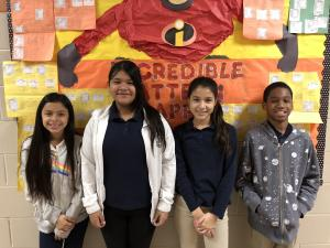 Science - 5th Grade STREAM - (L to R) Liliana Osuna, Yara Flores, Katerin Echeverria, and Isaiah Best