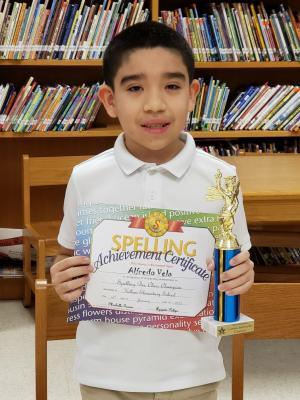 Spelling Bee Champion: Alfredo Vela