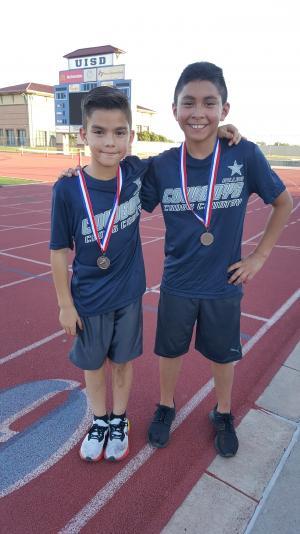 4th Grade Boys - 3rd Place: Raul Martinez, 10th Place: Winston Graza
