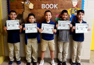 3rd Grade: (L to R) 2nd Place - Abraham Martinez, Rolando Mendoza, 1st Place - Marcelo Gamboa, 3rd Place - Noel Guerra, Brandon Saito