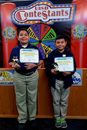 5th Grade Students Josue De La Garza and Rafael Mendoza