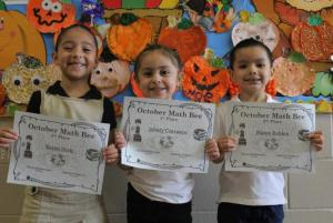 Pre-Kinder PM Math Bee Champions