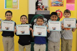 1st Grade Math Bee Champions and Participants