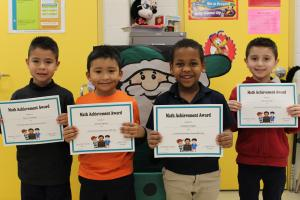 Kinder Math Bee Champions and Participant