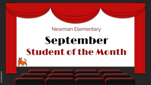 Newman Elementary September Student of the Month