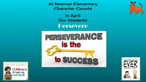 Character Counts: In April Our Student Persever