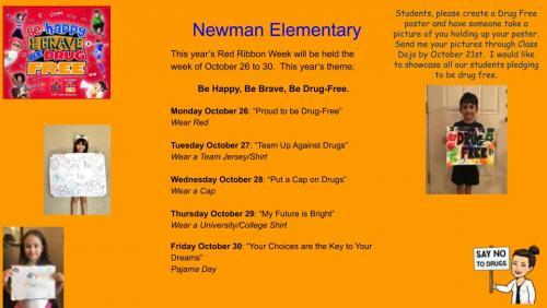Red Ribbon Week Theme Days English Copy
