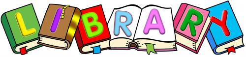 Library, Books, Word, letters, clipart