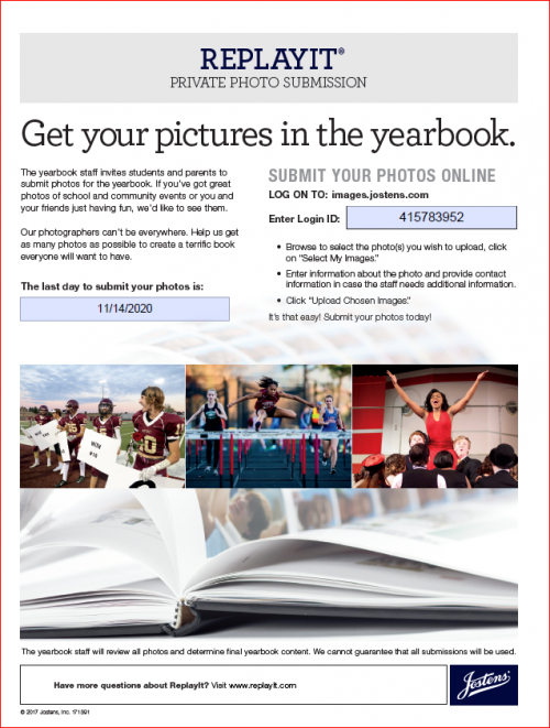 Submission of Yearbook Photos for LBV Virtual Yearbook
