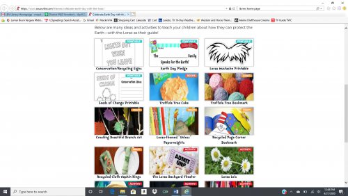 Dr. Seuss Earth Day Celebration Options