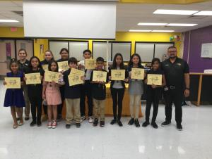 September Students of the Month- 6th Grade