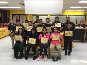 September Students of the Month- 7th Grade
