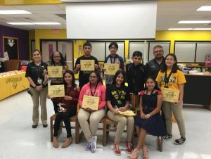 September Students of the Month- 8th Grade