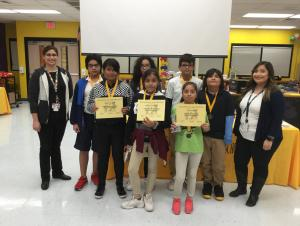 November Students of the Month- 6th Grade