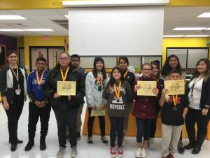 November Students of the Month- 7th Grade