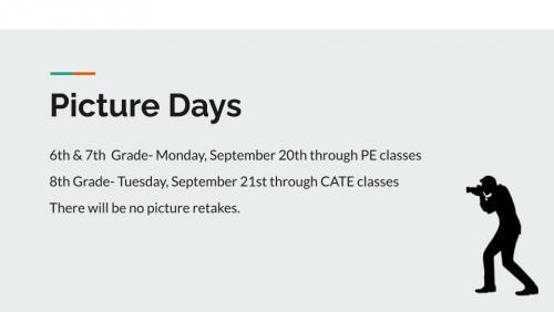 School picture days schedule.