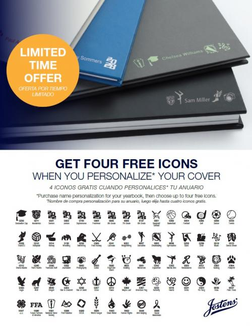 Customize your cover for $8 and get 4 free icons.