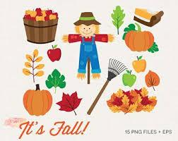 images of fall season (scare crow, pumpkin, leaves)