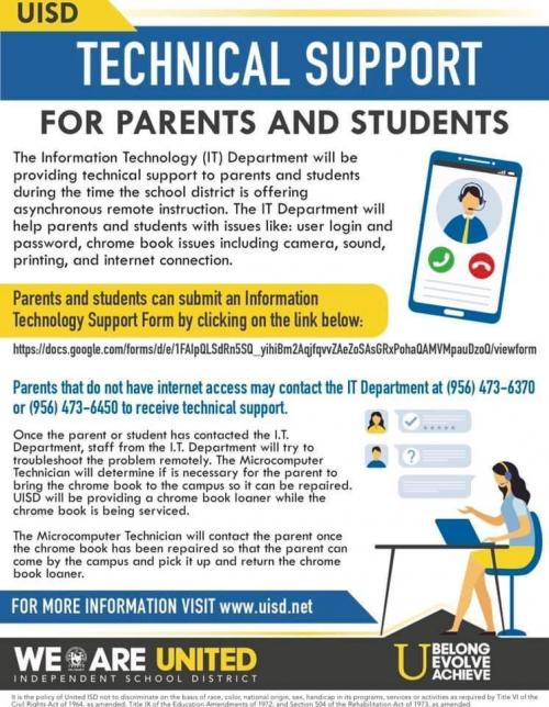 Technical Support for Students and Parents