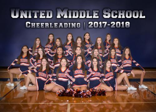 Picture of United Middle Cheerleaders for 2017-2018