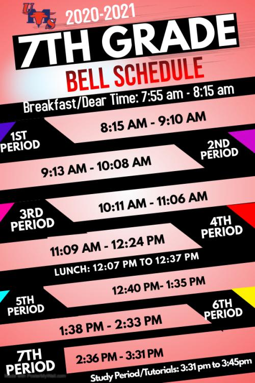 7th bell schedule