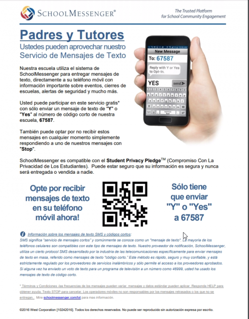 school messenger article spanish