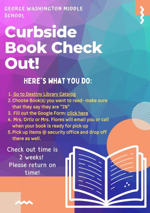 curbside service instructions for book check out