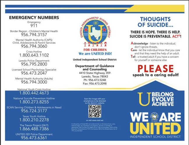 Suicide Prevention Brochure English Page 1