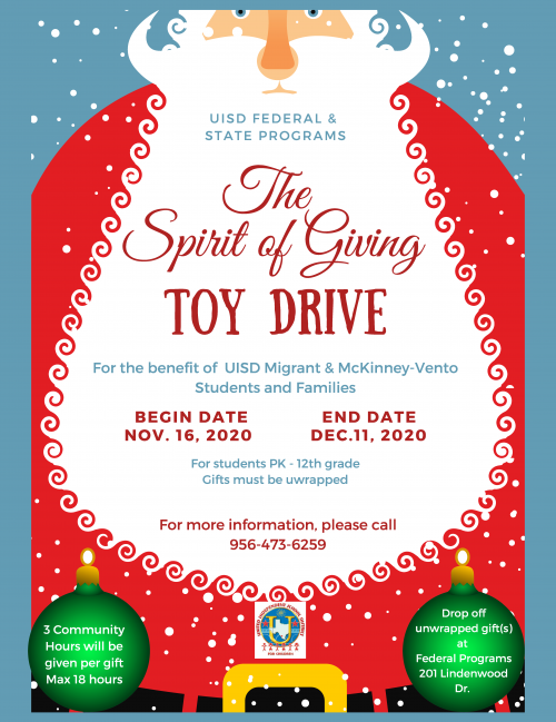 toy Drive English