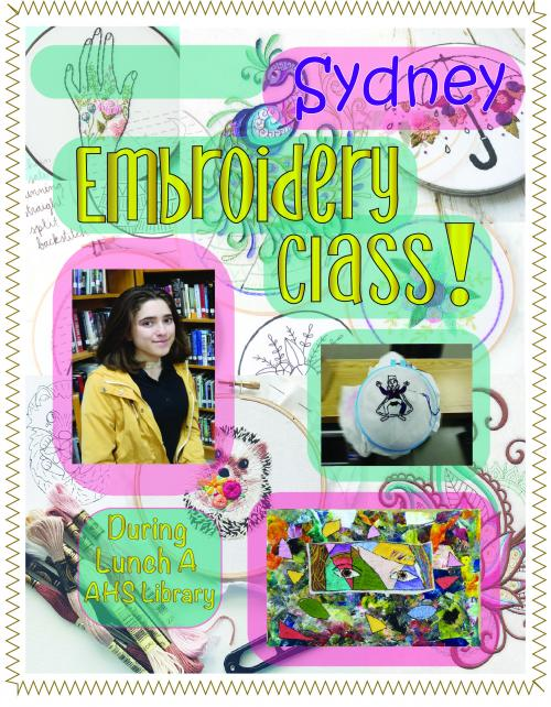 Embroidery with Sydney