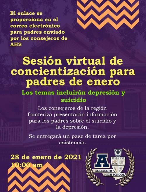 January meeting flyer spanish