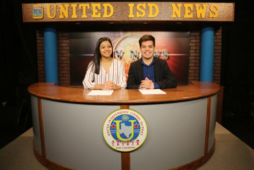 AHS students Samantha & Alejandro Rubio did an awesome job anchoring UISD's Student Newscast!!!