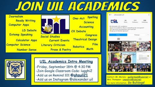 List of UIL Events