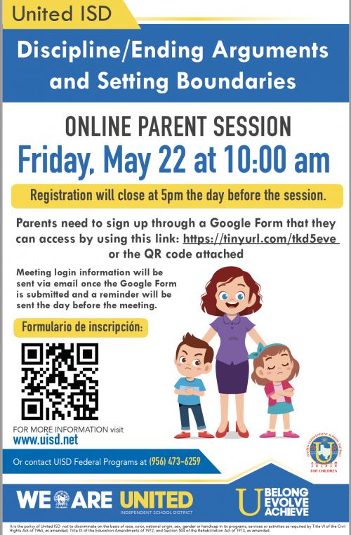 parent session flyer