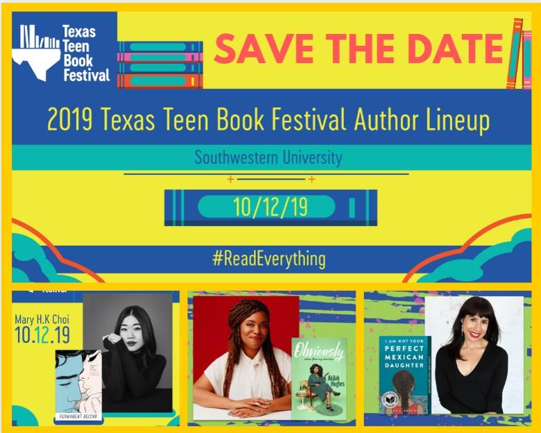 TEXAS BOOK TEEN FESTIVAL HAPPENING OCTOBER 12TH