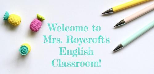 Roycroft Welcome Banner
