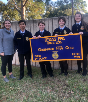 MS Students Texas FFA DLE's Greenhand FFA Quiz Team 2nd Place