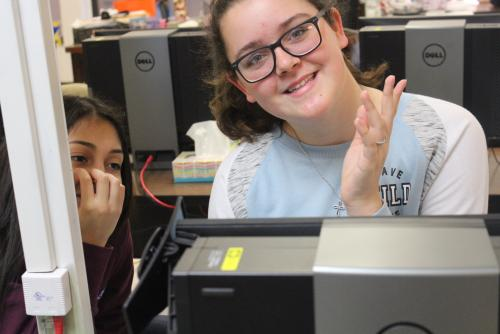 Middle School Students in Computer lab