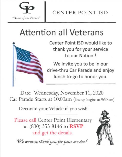 2020 Veterans Day Activities