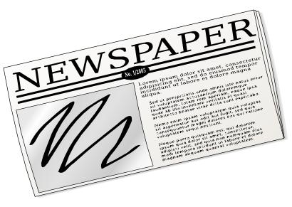 public domain newspaper image