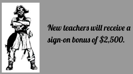Advertisement for sign-on bonus