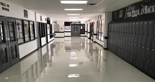 High School hallway