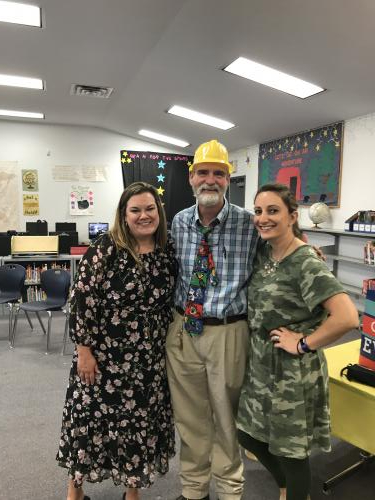 Mrs. George, Mr. Avant, and Mrs. Schreckenbach