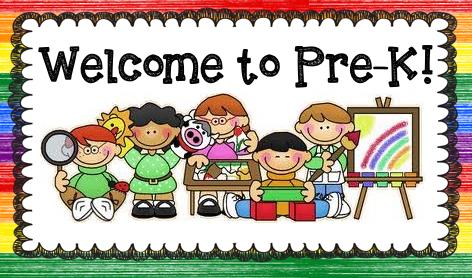 Banner with Welcome to Pre-K