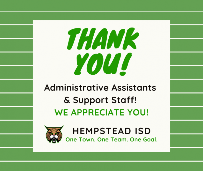 Thank you Administrative Assistants & Support Staff!