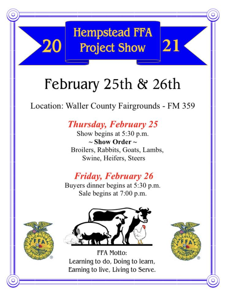 Hempstead FFA Project Show