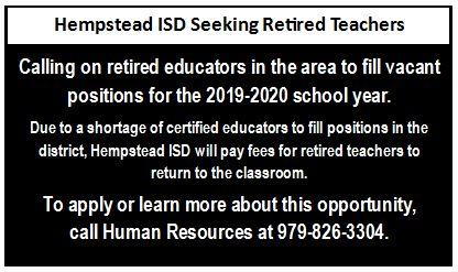 Ad for Retired Teachers