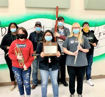 Bobcat Marching Band earns honors at UIL Contest