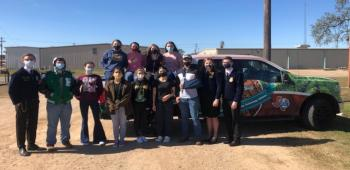 Texas FFA Travel Team Visits FFA Students